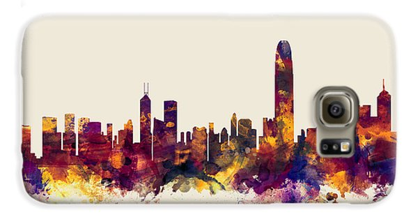 Hong Kong Skyline Galaxy S6 Case by Michael Tompsett