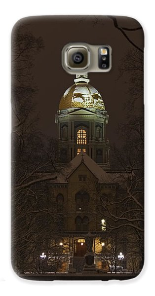 Notre Dame Golden Dome Snow Galaxy S6 Case by John Stephens