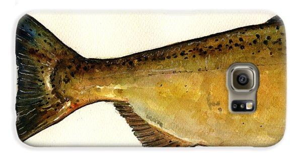 2 Part Chinook King Salmon Galaxy S6 Case by Juan  Bosco