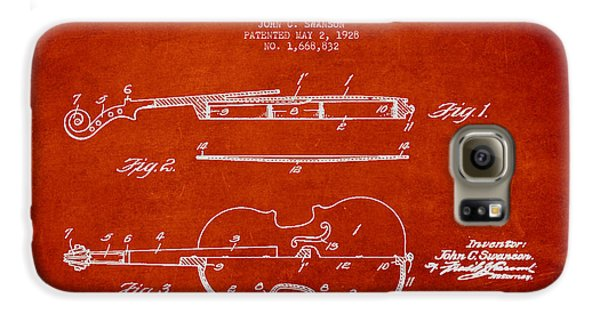 Vintage Violin Patent Drawing From 1928 Galaxy S6 Case by Aged Pixel