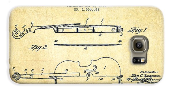 Violin Patent Drawing From 1928 Galaxy S6 Case by Aged Pixel