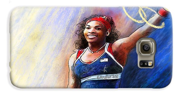 2012 Tennis Olympics Gold Medal Serena Williams Galaxy S6 Case by Miki De Goodaboom