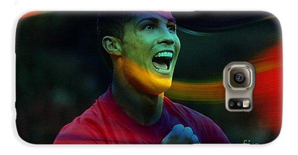 Cristiano Ronaldo Galaxy S6 Case by Marvin Blaine