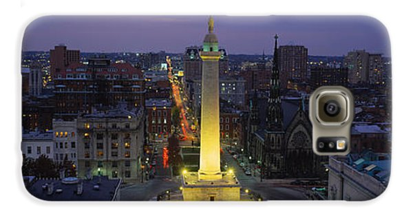 High Angle View Of A Monument Galaxy S6 Case by Panoramic Images