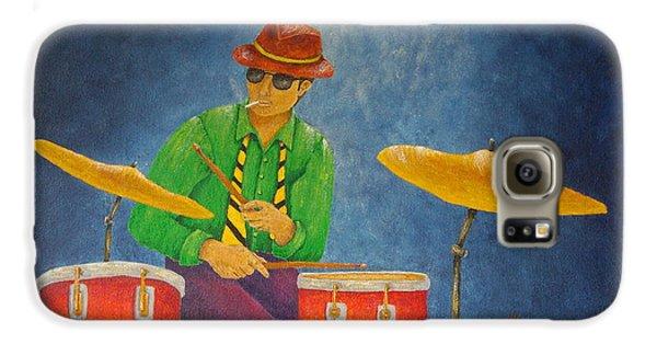 Jazz Drummer Galaxy S6 Case by Pamela Allegretto