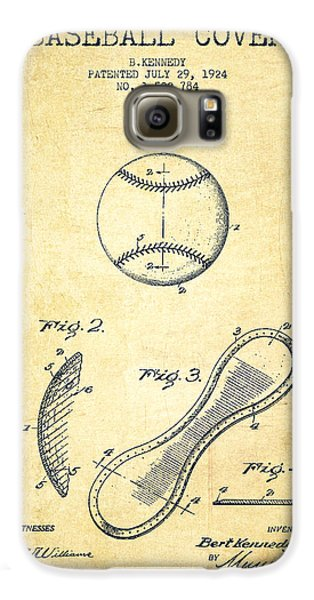 Baseball Cover Patent Drawing From 1924 Galaxy S6 Case by Aged Pixel