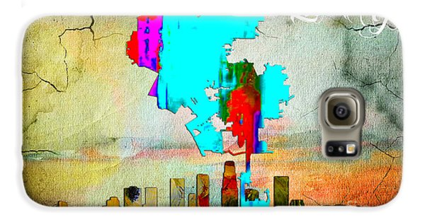 Los Angeles Map And Skyline Galaxy S6 Case by Marvin Blaine