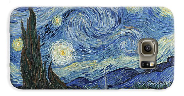 The Starry Night Galaxy S6 Case by Vincent Van Gogh