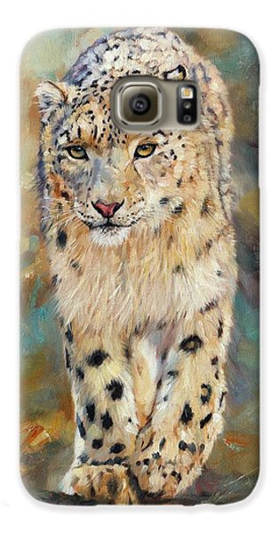 Snow Leopard Galaxy S6 Case by David Stribbling
