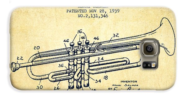Vinatge Trumpet Patent From 1939 Galaxy S6 Case by Aged Pixel