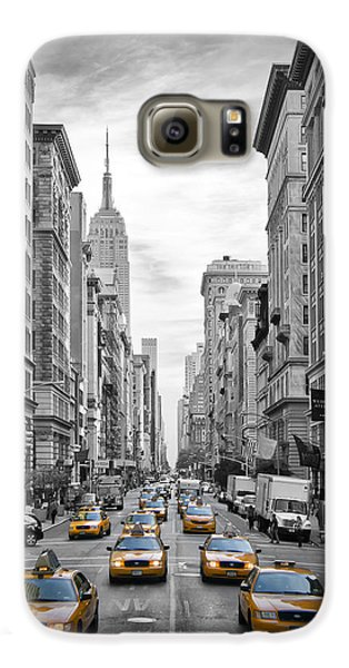 5th Avenue Yellow Cabs Galaxy S6 Case by Melanie Viola