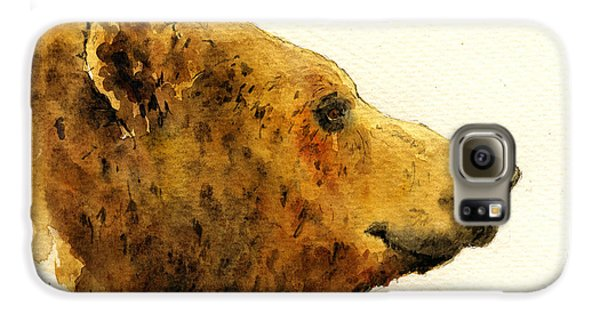 Grizzly Bear Galaxy S6 Case by Juan  Bosco