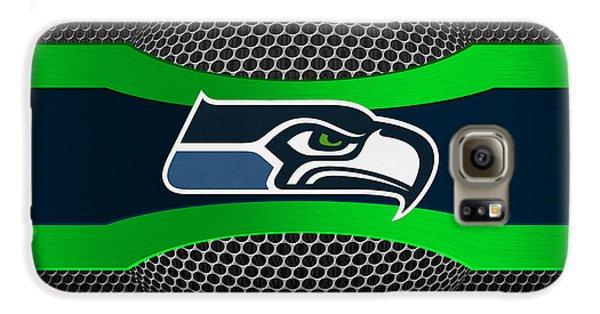 Seattle Seahawks Galaxy S6 Case by Joe Hamilton