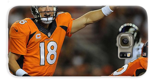Peyton Manning Galaxy S6 Case by Marvin Blaine