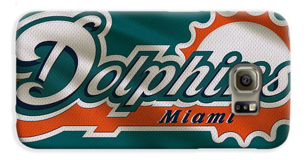 Miami Dolphins Uniform Galaxy S6 Case by Joe Hamilton