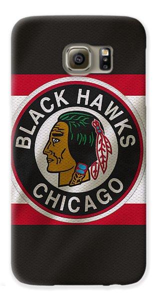Chicago Blackhawks Uniform Galaxy S6 Case by Joe Hamilton