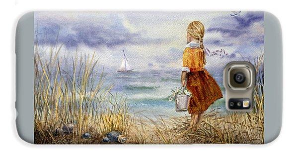 A Girl And The Ocean Galaxy S6 Case by Irina Sztukowski