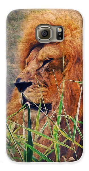 A Lion Portrait Galaxy S6 Case by Angela Doelling AD DESIGN Photo and PhotoArt