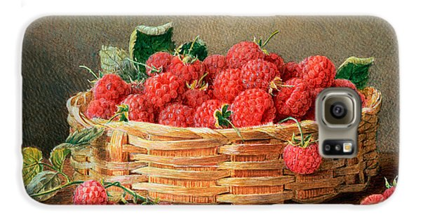 A Still Life Of Raspberries In A Wicker Basket  Galaxy S6 Case by William B Hough