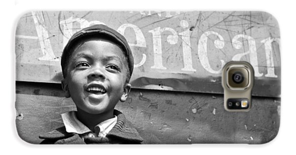 A Young Harlem Newsboy Galaxy S6 Case by Underwood Archives
