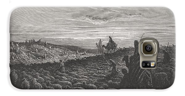 Abraham Journeying Into The Land Of Canaan Galaxy S6 Case by Gustave Dore