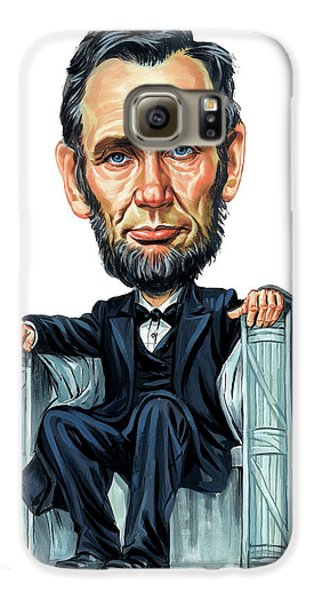 Abraham Lincoln Galaxy S6 Case by Art