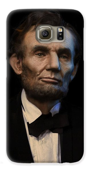 Abraham Lincoln Portrait Galaxy S6 Case by Ray Downing