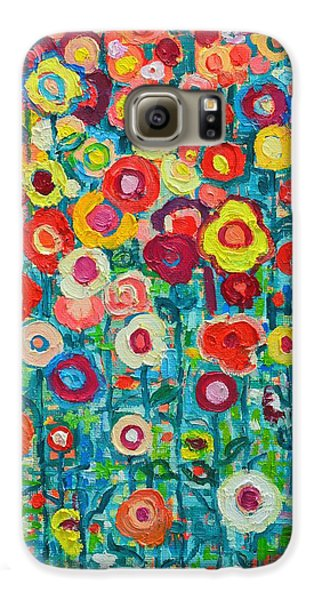 Abstract Garden Of Happiness Galaxy S6 Case by Ana Maria Edulescu
