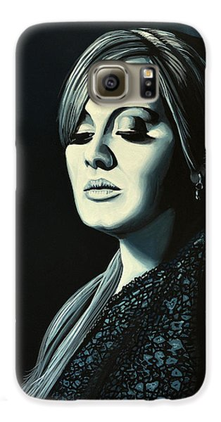 Adele Skyfall Painting Galaxy S6 Case by Paul Meijering