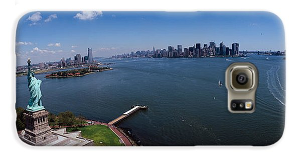 Aerial View Of A Statue, Statue Galaxy S6 Case by Panoramic Images