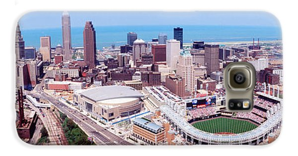 Aerial View Of Jacobs Field, Cleveland Galaxy S6 Case by Panoramic Images