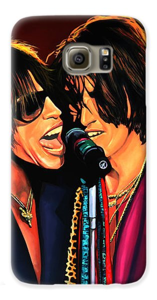 Aerosmith Toxic Twins Painting Galaxy S6 Case by Paul Meijering