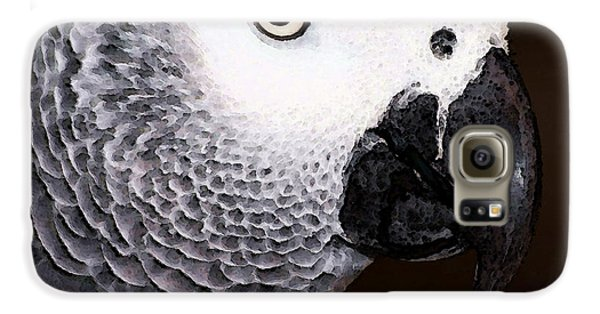 African Gray Parrot Art - Seeing Is Believing Galaxy S6 Case by Sharon Cummings