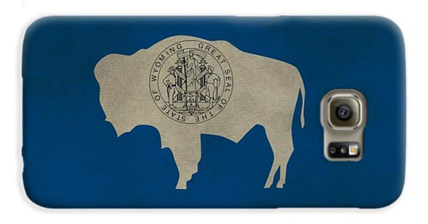 Aged Wyoming State Flag Galaxy S6 Case by Dan Sproul