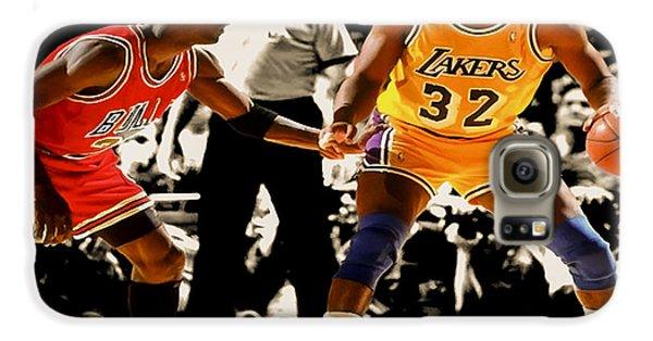 Air Jordan On Magic Galaxy S6 Case by Brian Reaves