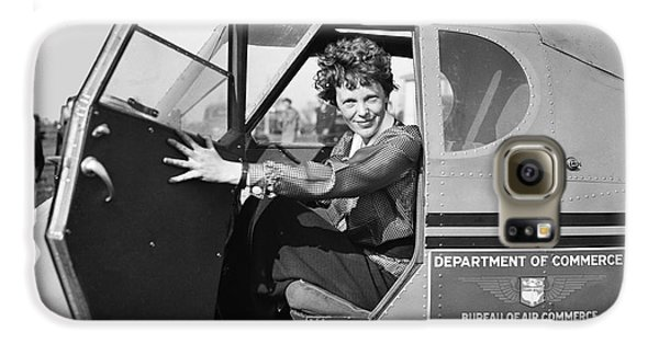 Amelia Earhart - 1936 Galaxy S6 Case by Daniel Hagerman