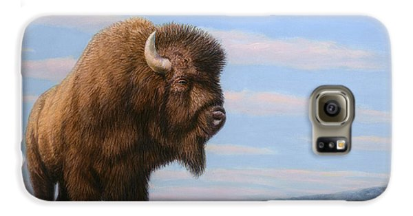 American Bison Galaxy S6 Case by James W Johnson