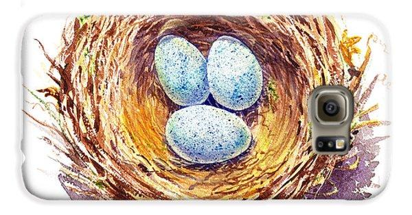 American Robin Nest Galaxy S6 Case by Irina Sztukowski