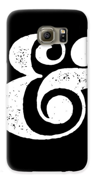 Ampersand Poster Black Galaxy S6 Case by Naxart Studio