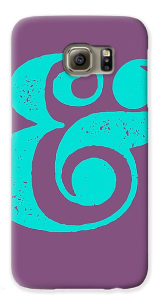 Ampersand Poster Purple And Blue Galaxy S6 Case by Naxart Studio