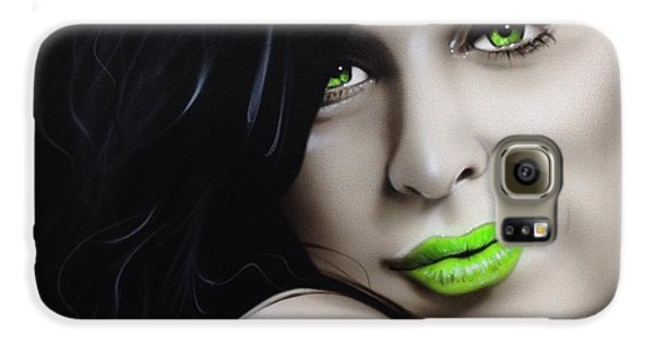 Amy Winehouse - 'amy Jade' Galaxy S6 Case by Christian Chapman Art