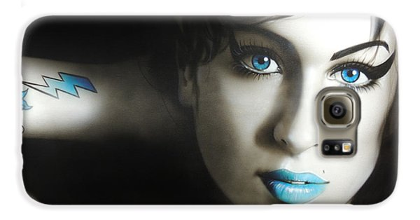Amy Winehouse - 'amy 'n' Blues' Galaxy S6 Case by Christian Chapman Art