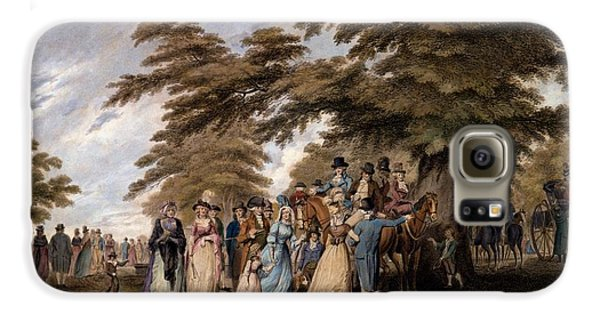 An Airing In Hyde Park, 1796 Galaxy S6 Case by Edward Days