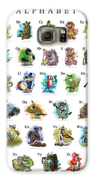 Animals And Instruments Alphabet Galaxy S6 Case by Sean Hagan