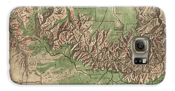 Antique Map Of Grand Canyon National Park By The National Park Service - 1926 Galaxy S6 Case by Blue Monocle