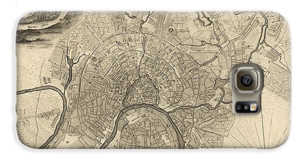 Antique Map Of Moscow Russia By Ivan Fedorovich Michurin - 1745 Galaxy S6 Case by Blue Monocle
