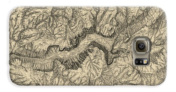 Antique Map Of Yosemite National Park By George M. Wheeler - Circa 1884 Galaxy S6 Case by Blue Monocle