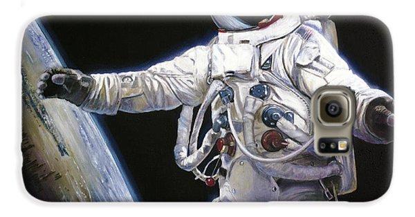 Apollo 9 - Schweickart On The Porch Galaxy S6 Case by Simon Kregar