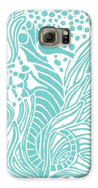 Aqua Seahorse Galaxy S6 Case by Stephanie Troxell