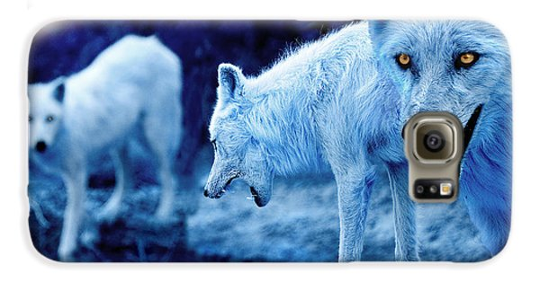 Arctic White Wolves Galaxy S6 Case by Mal Bray